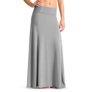 Athleta Kali Gray Convertible Maxi Skirt Large